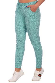 Бирюзовые брюки ElenaTex со скидкой