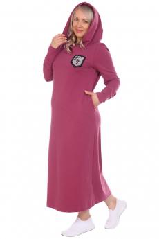 Длинное платье с капюшоном и карманами ElenaTex