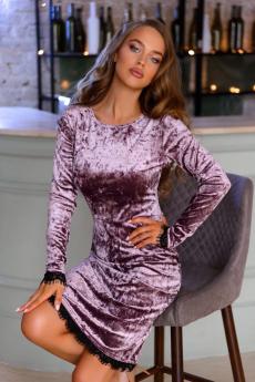 Новинка: велюровое платье аметистового цвета Open Style